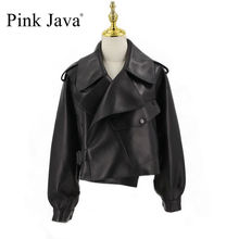 Pembe Java QC20003 yeni varış gerçek deri ceket kadın ceket hakiki koyun deri ceket lüks moda sıcak satış elbise
