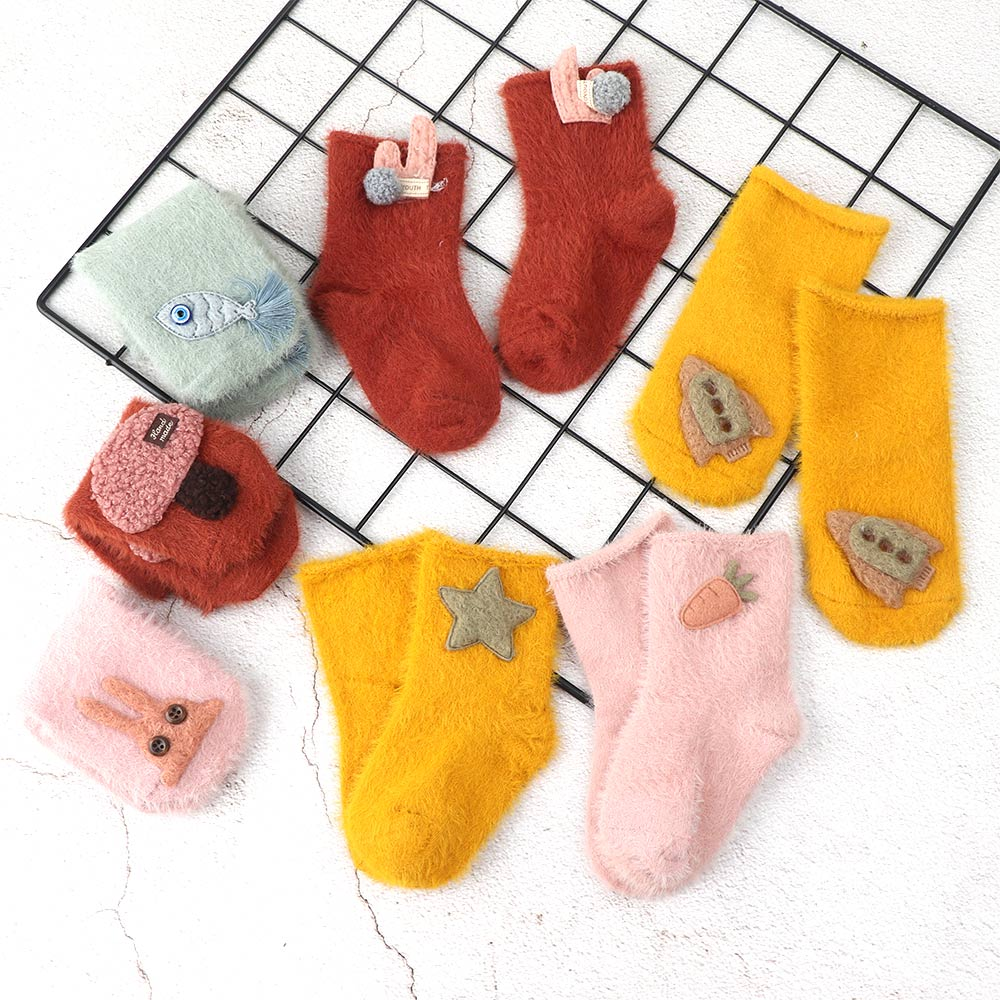 In Autumn and Winter Toddler Baby Boys Girls New Cartoon Warm Durable Stockings