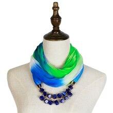 Jzhifiyer scarf two-tone color jewelry necklace feminino invern fashion ring shawl hijab bandana beauty neck