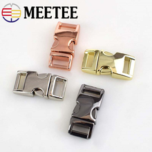 Meetee Metal Side Release Buckle 10mm Paracord Bracelet Dog Collar Webbing Belt Clip Clasp for Bags DIY Leathercraft H6-2