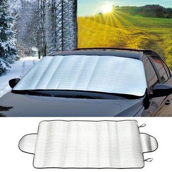 150cm x 70cm Car Windscreen Cover Car Window Screen Frost Sunlight Cover Ice Dust Protector F5H1 image