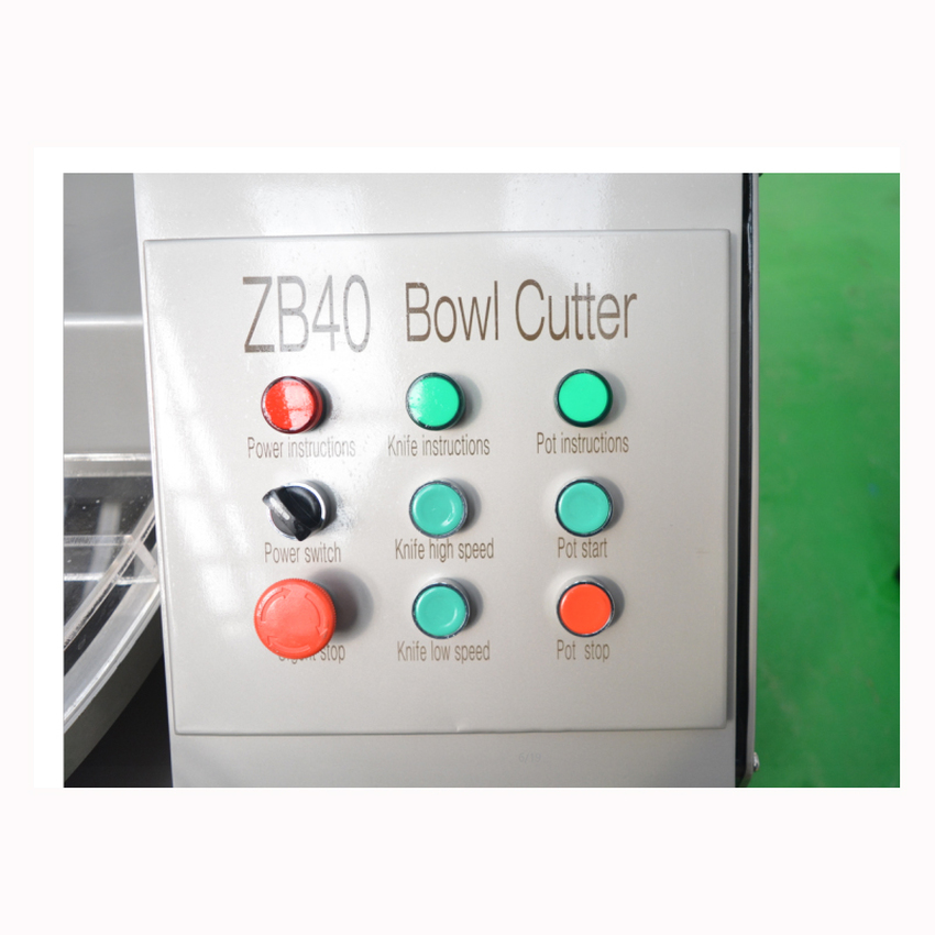 ZB-40 40L Electric Meat Beef Mincing Grinding Machine Frequency Conversion Commercial Automatic Meat Grinder Mixer 5.1kw 380V 2