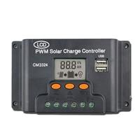Hot!! LCD podwójny USB ładowarka słoneczna kontroler 10A 12 V/24 V panel słoneczny Regulator ładowania baterii PWM w Wyświetlacze od Elektronika użytkowa na
