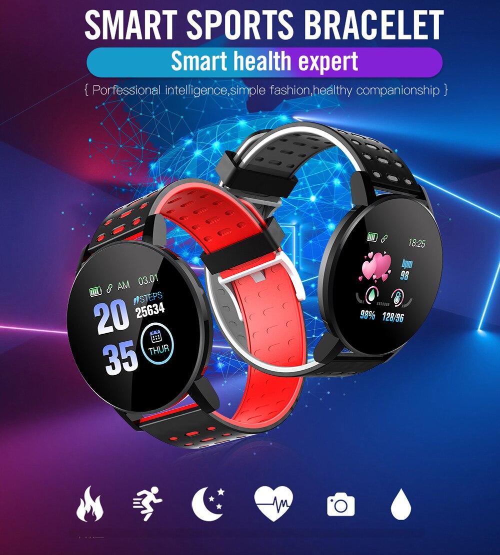 H0b9f169d305d430d8db424a1fc1ee598f Fitness Bracelet Blood Pressure Measurement Smart Band Waterproof