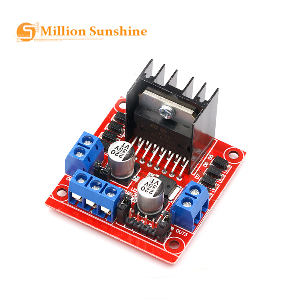 Smart Electronics L298N Stepper DC Motor Driver Shield Expansion Development Board For Arduino DIY Car Robot RPI152