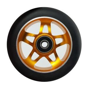 Image 5 - 2 peças/lote 88a 100mm rodas de scooter com rolamentos de liga de aço roda hub alta elasticidade e precisão velocidade patinação roda a116