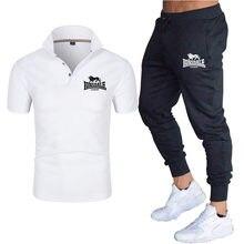 2021New Summer Men's Sportswear Suit Short-sleeved Polo Shirt + Trousers 2-Piece Set New Fashion men's Sportswear