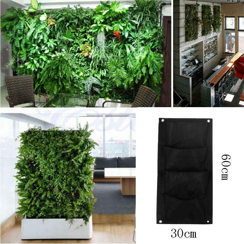 Vertical Greening Hanging Wall Garden Planting Storage Bags Wall
