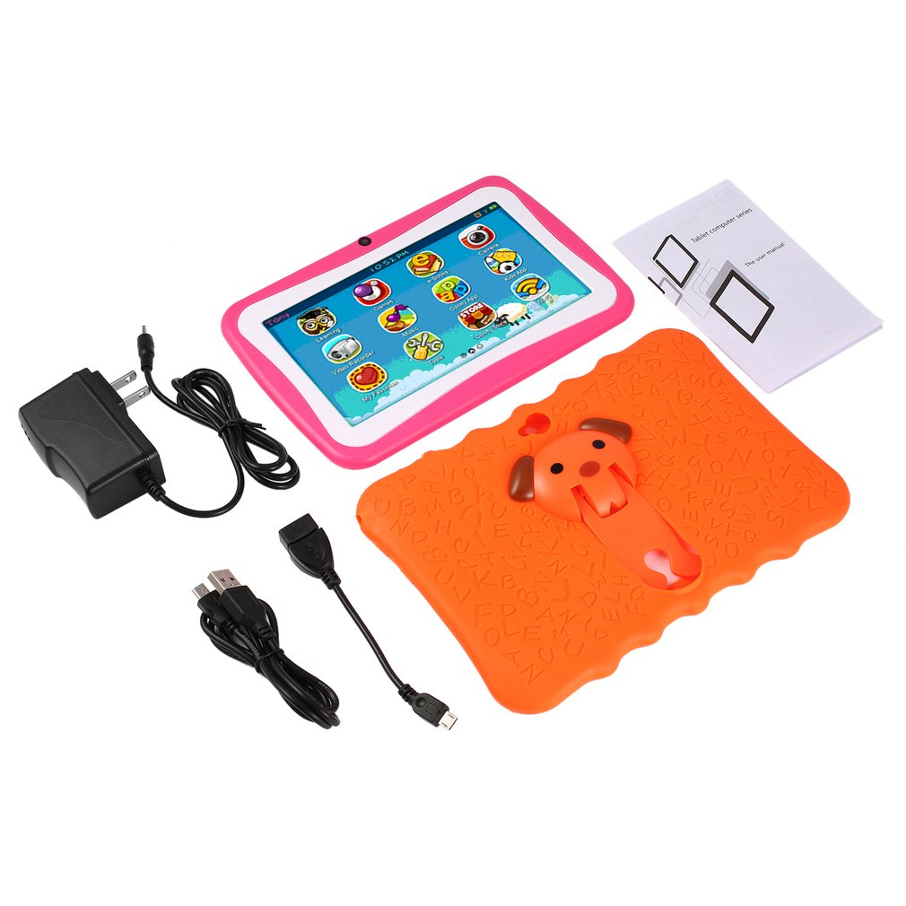 Ainol 2018 7 Inch Android 4.4 Quad Core Kids Tablet PC 512MB+8GB Professional Learning Education Tablet Computer Children Gift