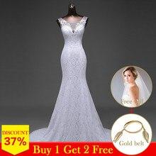 באיכות גבוהה אלגנטי יפה תחרה פרחי בת ים שמלות כלה vestidos דה noiva robe de mariage כלה שמלות