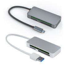 Usb 3.0 leitor de cartão 3 em 1 usb tipo c para cf tf sd ms seguro digital multi-cartão leitor adaptador para macbook portátil telefone tablet
