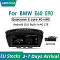 Автомобильный мультимедийный плеер, экран 8,8 дюйма, Android 10,0, 8 ядер, 4 Гб 64 ГБ, для BMW серии 5/3, E60, E61, E62, E63, E90, E91, GPS-навигация, Авторадио