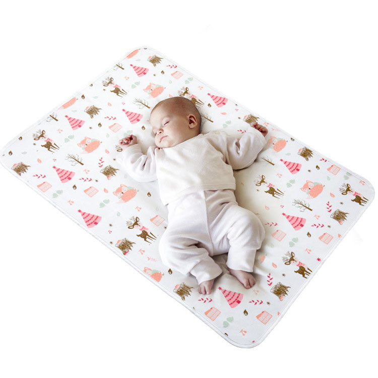 HereNice Waterproof Baby Kids Washable Diaper Mat Variety Patterns Changing Pads Portable Pad Breathable And Comfortable