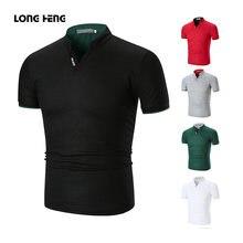 Longheng мужские рубашки поло 2020 Новые летние с коротким рукавом