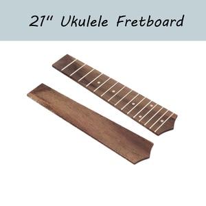 """Image 1 - 21"""" Ukulele Fingerboard 15 Frets Rosewood Ukulele Fretboard For Soprano Ukulele Hawaii Guitar"""