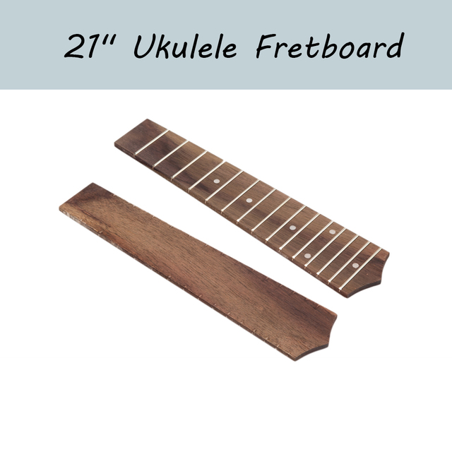 """21"""" Ukulele Fingerboard 15 Frets Rosewood Ukulele Fretboard For Soprano Ukulele Hawaii Guitar"""