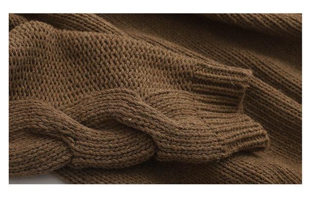 [EAM] Big Size Oversize Knitting Sweater Loose Fit V-Neck Long Batwing Sleeve Women New Fashion Tide Autumn Winter 2019 1B621 35