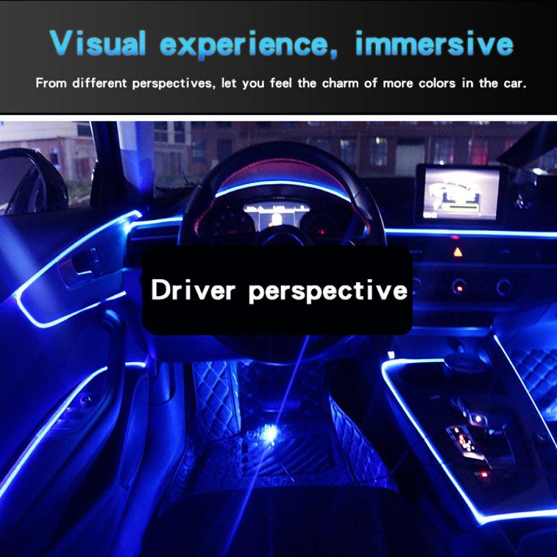 Car LED Atmosphere Lamp Car Interior Lighting RGB Neon Strip Instrument Panel Car Decorative APP Rmote Control Car Accessories