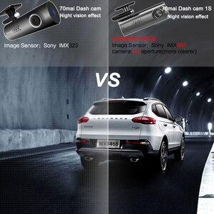 Image 3 - 70mai Dash CAM WIFI APPควบคุมเสียงภาษาอังกฤษCar DVR 1080HD Night Vision Dashcam 70 เชียงใหม่ 1Sรถกล้องกล้อง