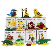 15 оригинальных мини животных legoinglys строительные блоки головоломки сборки игрушки для детей развивающие игрушки для детей micro legoS