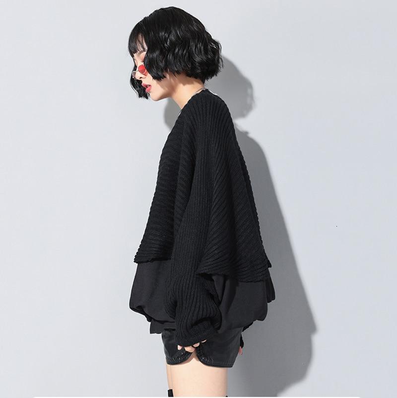 New Fashion Style Long Batwing Sleeve Spliced Ruffles Loose Big Size Sweatshirt Fashion Nova Clothing