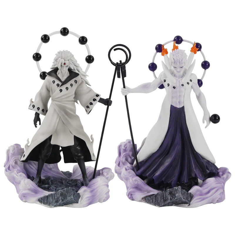 25-27cm Naruto Figure Statue Uchiha Obito Rikudou Sennin Decoration Toys PVC Collection Model Doll Gift