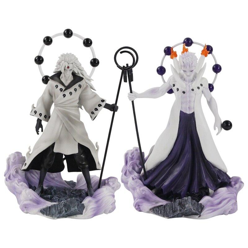 25-27cm Naruto Figure Statue Uchiha Obito Rikudou Sennin Decoration Toys PVC Collection Model Doll Gift