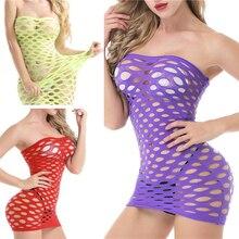 Ruswi Fishnet Underwear Elasticity Cotton Lenceria Sexy Lingerle Hot Women Sex Costumes For Mesh Baby Doll Dress Erotic Lingerie