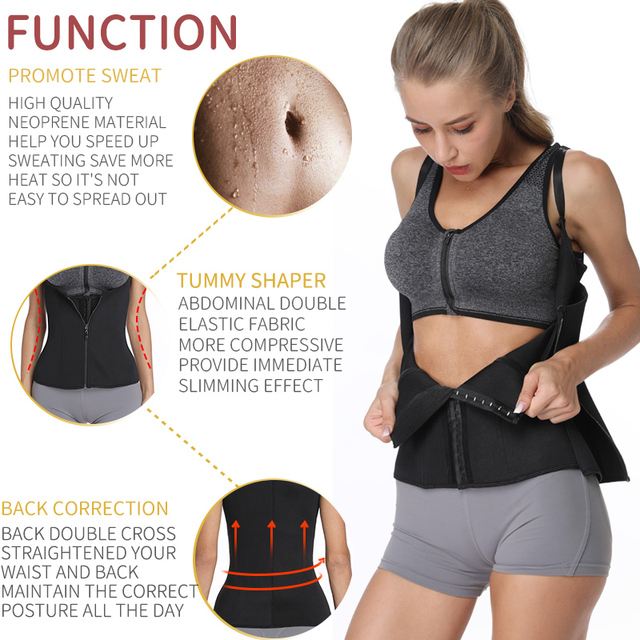 Body Shapes Neoprene Sauna Sweat Vest Waist Trainer Slimming Trimmer Fitness Corset Workout Thermo Modelling Strap Shapewear 2