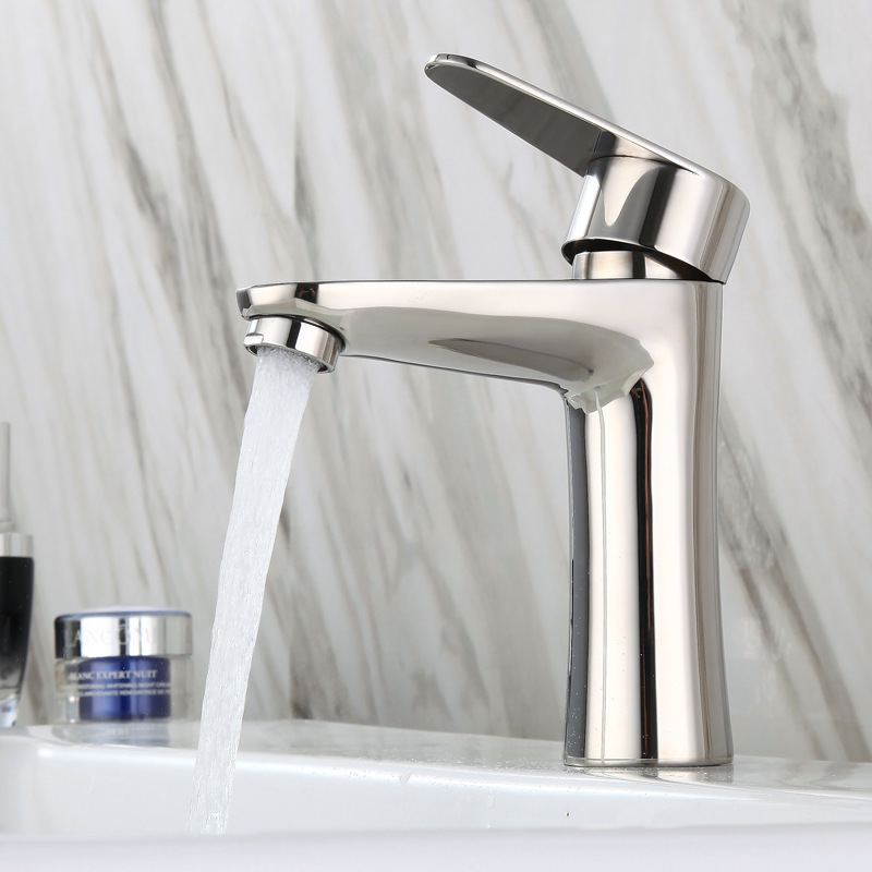 304 Stainless Steel Mirror Light Washbasin Faucet Mirror Light Drop-in Sink Wash Basin Hot And Cold Faucet