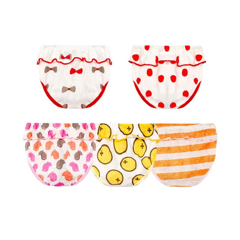 5pcs/lot Baby Underwear Infant Panties Newborn Underpants Baby Panties Cute Briefs For Girls Reusable Breathable Under Pant