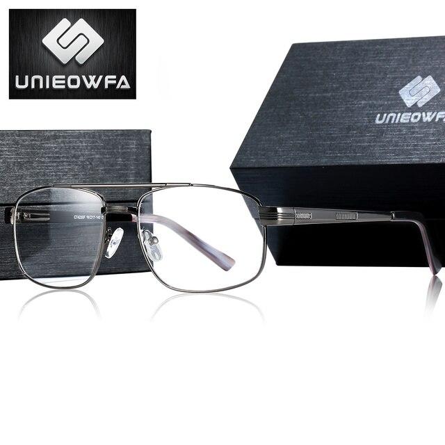 Lunettes de Prescription Progressive hommes myopie optique lunettes mâle photochromique Anti lumière bleue lunettes hyperopie lentille claire