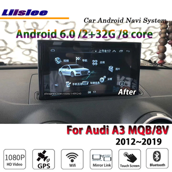 Liislee Car Android 6.0 up 2G RAM 32ROM For Audi A3 MQB 8V 2012~2019 Radio BT Carplay GPS Navi Map Navigation System Multimedia image