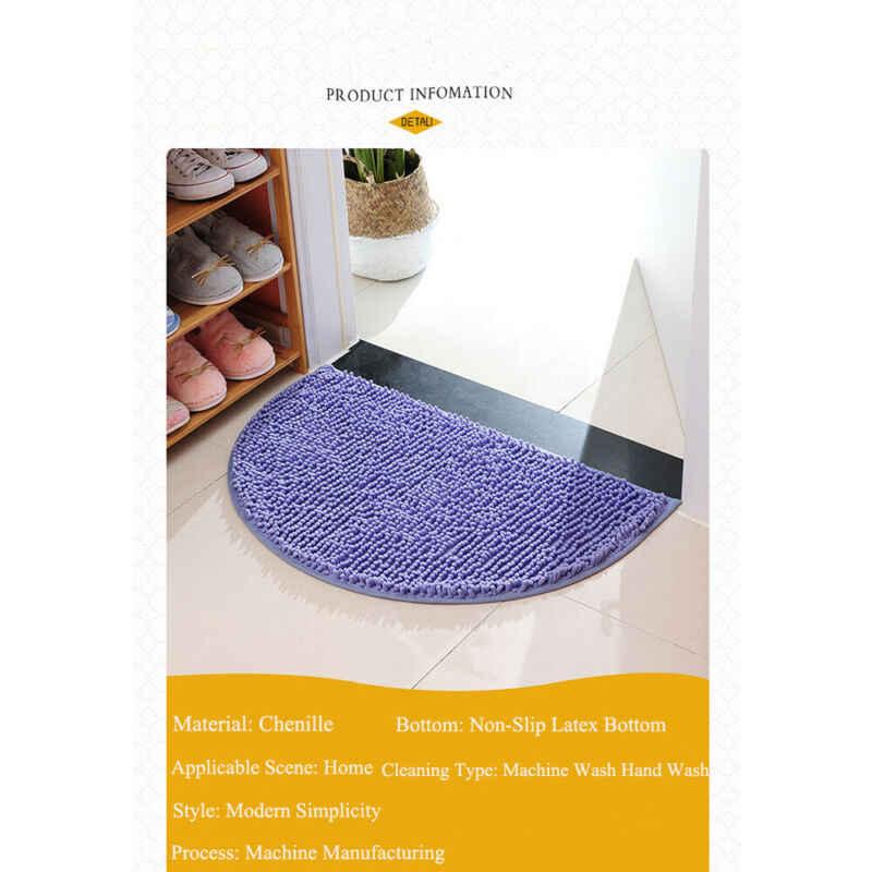 tapis antiderapant demi lune rond semi circulaire lavable en machine tapis arriere en caoutchouc pour cuisine et salle de bain 40x60cm nouveau