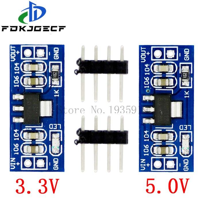 5 шт. AMS1117 LM1117 SMD DC-DC модуль ldo понижающего преобразователя Питание модуль DC-DC 4,5 V-7V до 3,3 V 5,0 релейный модуль для Arduino bluetooth