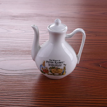 Bone Porcelain Sauce and Vinegar Bottle Condiment Soy Chilli Oil Kitchen Smal