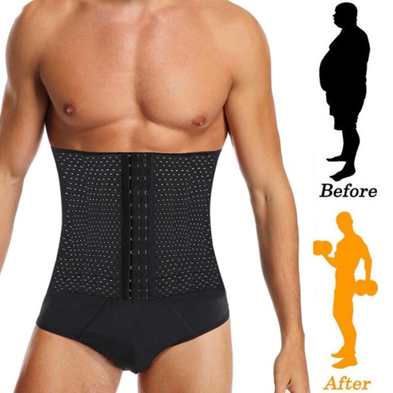 Man Slimming Body Shaper Male Waist Trainer Cincher Corset Men Body Modeling Belt Tummy Control Shapers Strap Fitness Shapewear