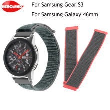 Smart accessories strap 22mm Strap for Samsung Gear S3 Frontier Classic galaxy watch 46mm Band Nylon Loop Gear S3 Frontier Bands new stainless steel watch band wrist strap 22mm for samsung galaxy watch 46mm smart accessories for samsung gear s3 frontier