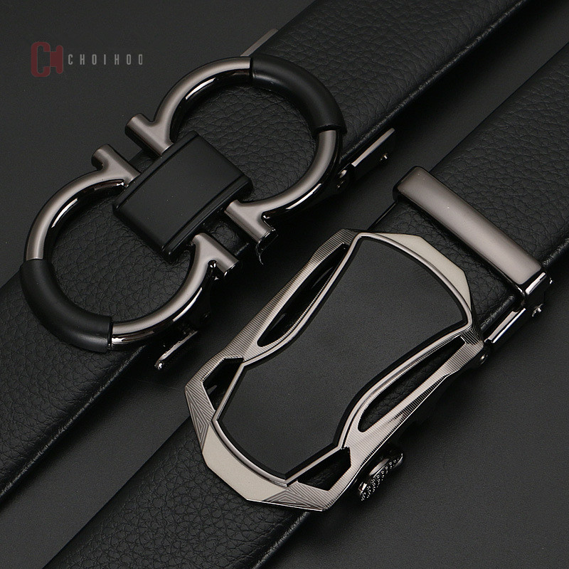 2019 Famous Brand Belt Men Top Quality Genuine Luxury Leather Belts for male,Strap Male Metal Automatic Buckle AF123