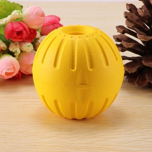 7cm Teeth Indestructible Bite Rubber Puppy Funny Training Ball Chew Toys Play Fetch Solid With Carrier Rope Pet Dog(China)