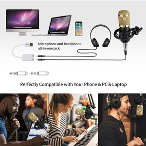 Image 5 - Condenser Microphone Bundle BM 800 Mic Set for Stu dio Recording & Brocasting Microphone Kit for Pc Computer