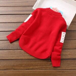 Image 2 - Girls Knitted Sweaters Pullover Tops Cartoon Rabbit Cute Knitting Shirt Little Girl outwear Children sweater Coat Kids knitwear