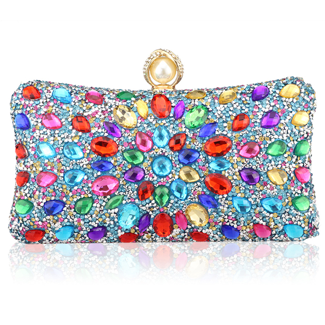 Diamond Crystal Candy Colored Clutch  3
