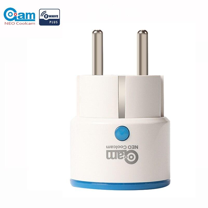 NEO COOLCAM NAS-WR01ZE Sensor Smart Home-Netzstecker-Buchse kompatibel mit Z-Wave-Serie 300 und der Serie 500 Home Automation
