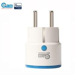 NEO Coolcam ZWAVE زائد الاتحاد الأوروبي الذكي قابس طاقة المنزل المقبس أتمتة المنزل نظام إنذار المنزل Z موجة 868.4MHz تردد الفيديو
