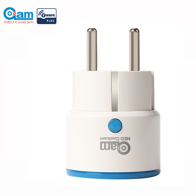 NEO Coolcam ZWAVE PLUS EU Smart Home Power Plug Socket Home Automation Alarm System Home Z Wave 868.4MHz Video Frequency