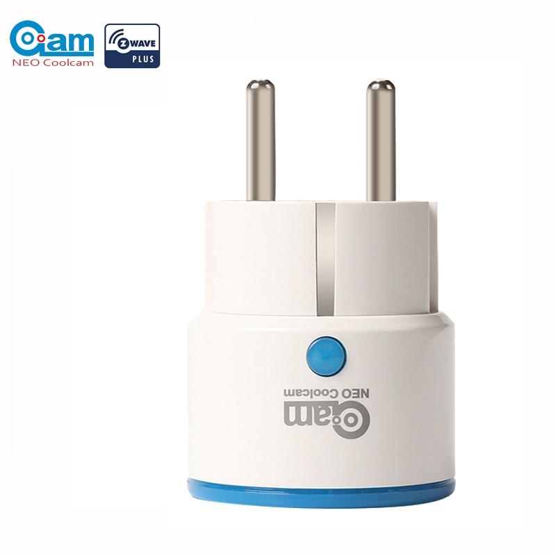 Neo coolcam zwave plus ue tomada de alimentação inteligente casa automação sistema alarme onda z 868.4mhz vídeo freqüência