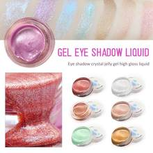 Neue Heiße Flüssigkeit gelee gel Highlighter Lidschatten Schimmer Glow Illuminator Make-Up Highlight Glanz Erhellen Gesicht Körper Glow Creme(China)