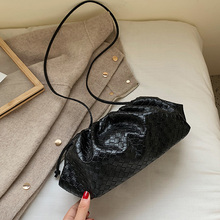 Brand Design Woven Dumpling Bag Women Shoulder Bags 2020 New Fashion Ladies Crossbody Messenger Bags PU Leather Handbags Female
