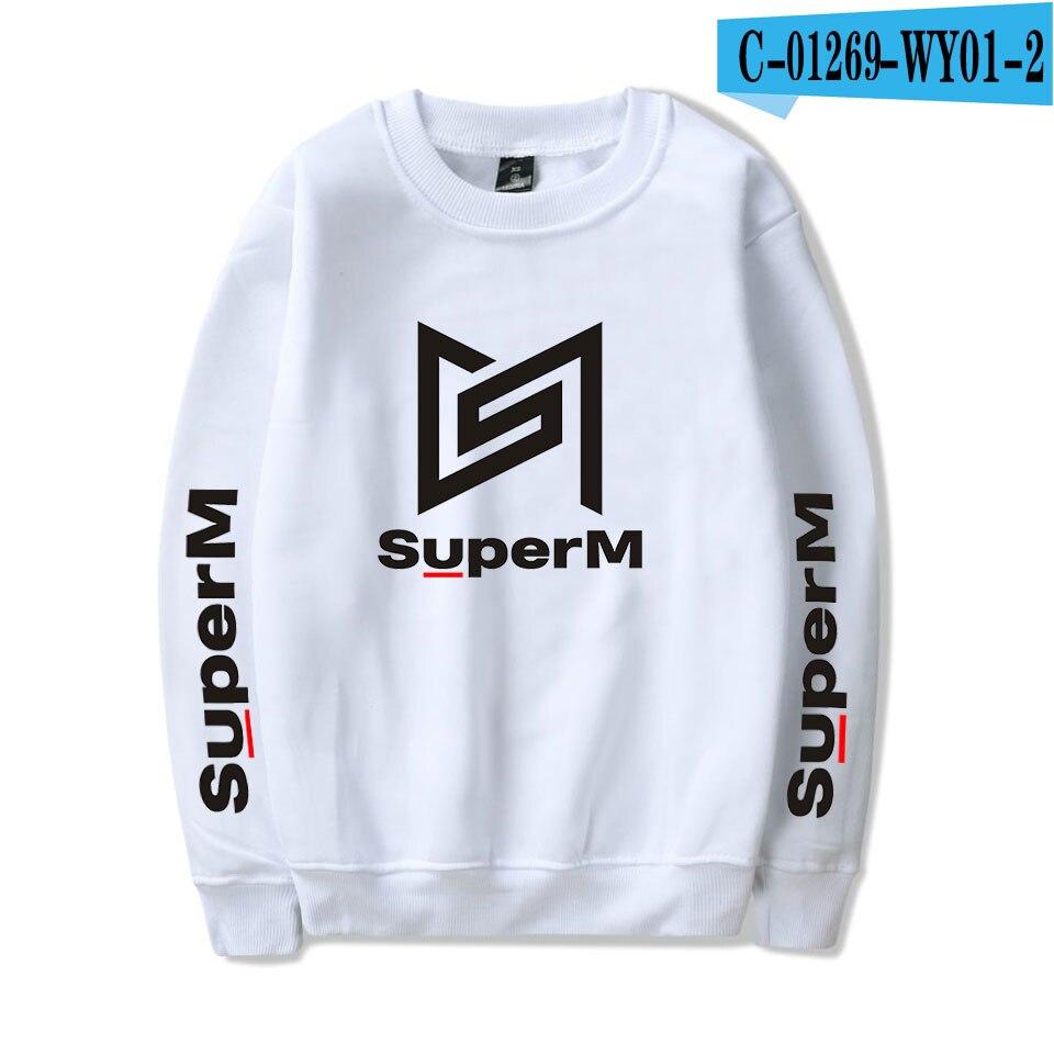 SuperM Korean Stylish Kpop Harajuku Printed  Harajuku Round Collar Sweatshirt Women/men College Stylish 2019 New Sweatshirt 12